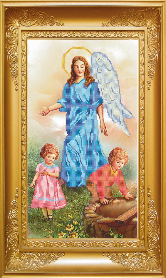 Схема для вишивки бісером Ангел з дітьми. Арт. КРВ-13