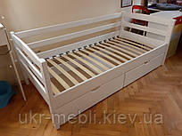 Ліжко дитяче підліткове полуторне Ліза з натурального дерева, ліжко, кушетка, нота