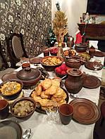 Глиняний набір посуду на Святий Вечір 6 персон