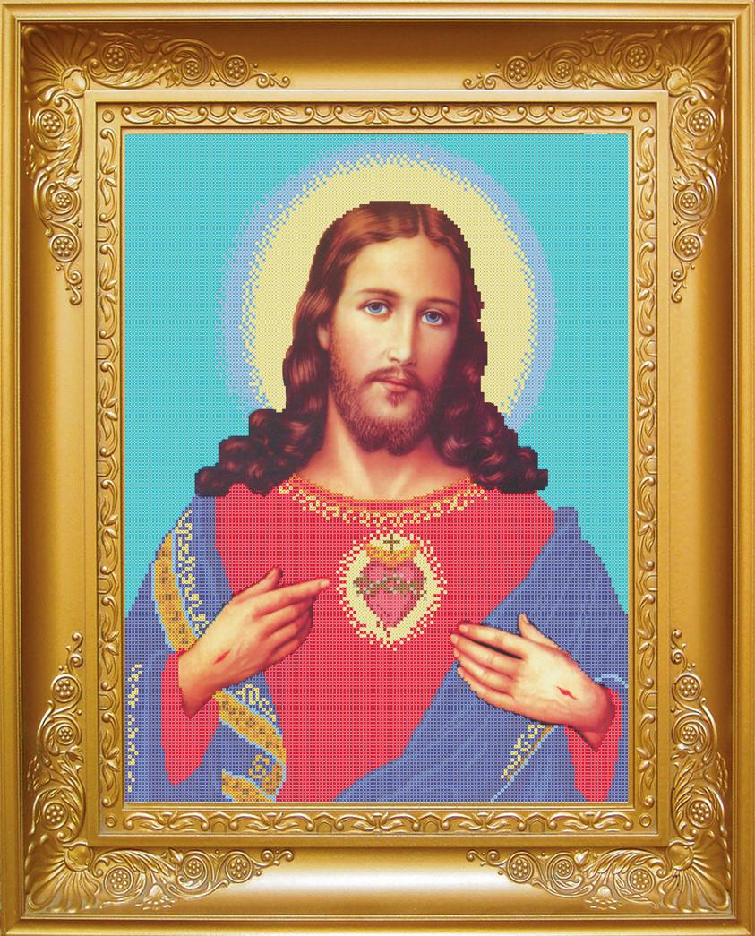 Схема для вишивки бісером Спаситель Ісус Христос . Арт. КРВ-8