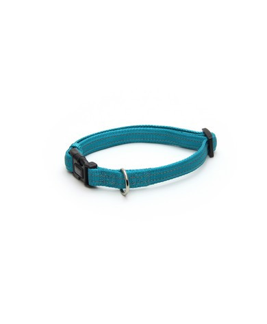 Ошейник для собак  SOFT REFLECTIVE светоотражающий, голубой, нейлон, 30-45х1,5 см,Croci