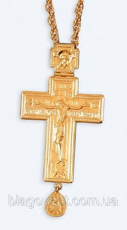Крест протоиерейский наперсный золоч. мал.