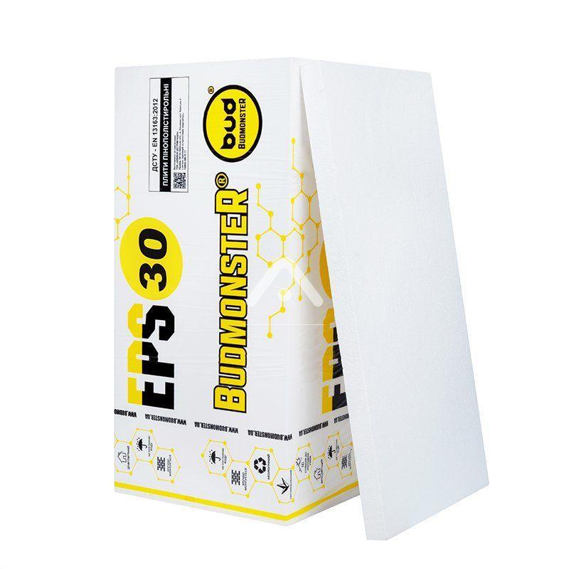 Плита пенополистирольная Budmonster EPS-30 1000х500х50 мм (8.5 кг/м3)