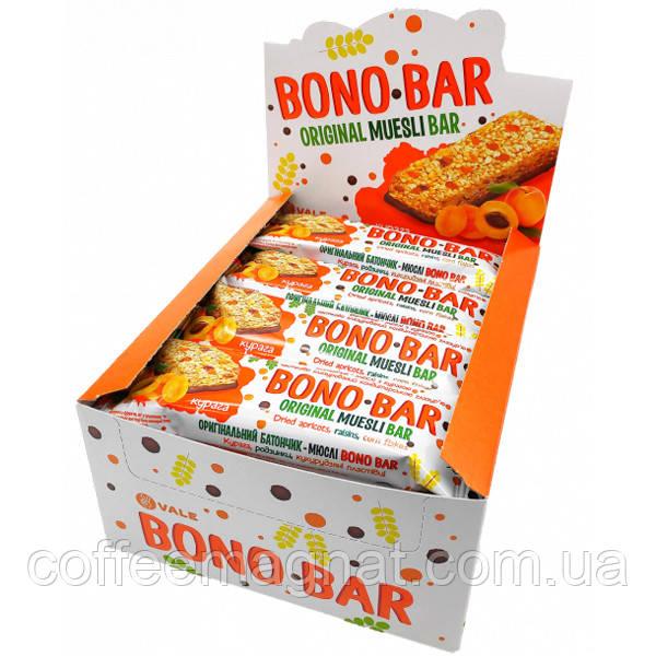 Батончик Bono Bar с курагой 40 г (упаковка 20 шт)