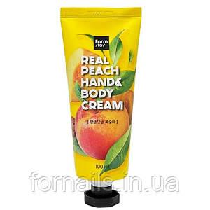 Крем рук и тела с экстрактом персика FARMSTAY Real Peach Hand & Body Cream 100 мл