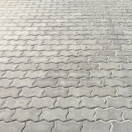 """Тротуарная плитка """"Волна"""" 240х120 высота 80 мм серая"""