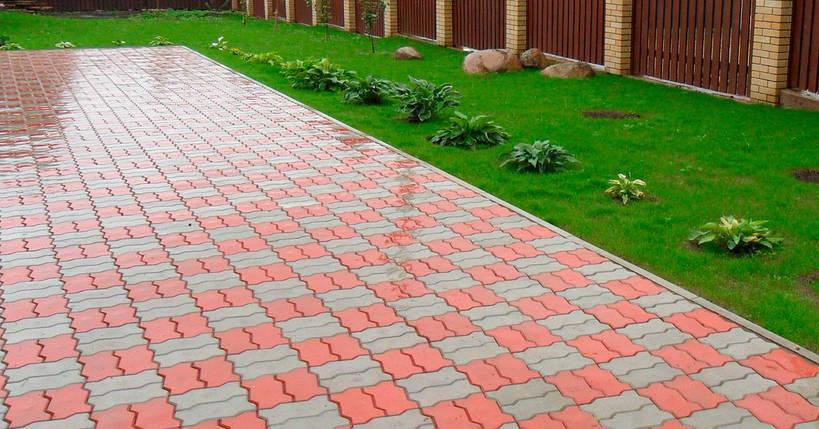 """Тротуарная плитка """"Волна"""" 240х120 высота 80 мм цветная, фото 2"""