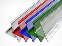 Б/у Ценникодержатель стеллажный HL Display UT прозрачный, держатели для ценников 230*45мм