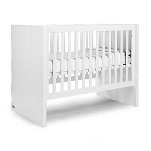 Дитяче ліжко Childhome QUADRO WHITE, фото 2