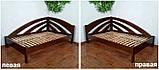 Кутова дерев'яна ліжко-тахта Веселка, фото 5