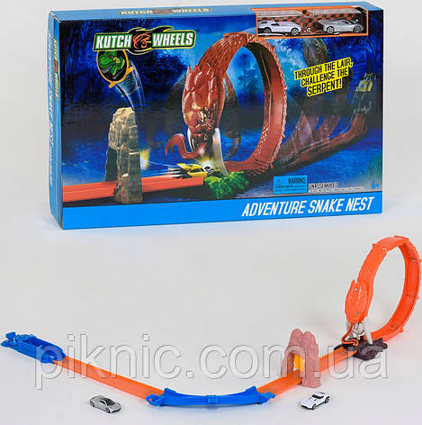Автотрек Змея для детей. Детский авто трек гоночный с машинками, фото 2