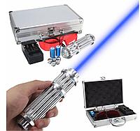 Указка LASER B017, Мощная лазерная указка, Мощный лазер, Лазер в кейсе, Лазер с насадками,Аккумуляторный лазер