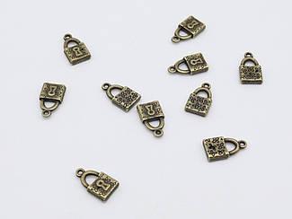 Металлические подвески. Цвет античная бронза. 18х10мм