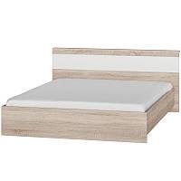Двуспальная Кровать с матрасом 1600 Соната ЭВЕРЕСТ Дуб сонома + Белый (160х200х80.5 см)