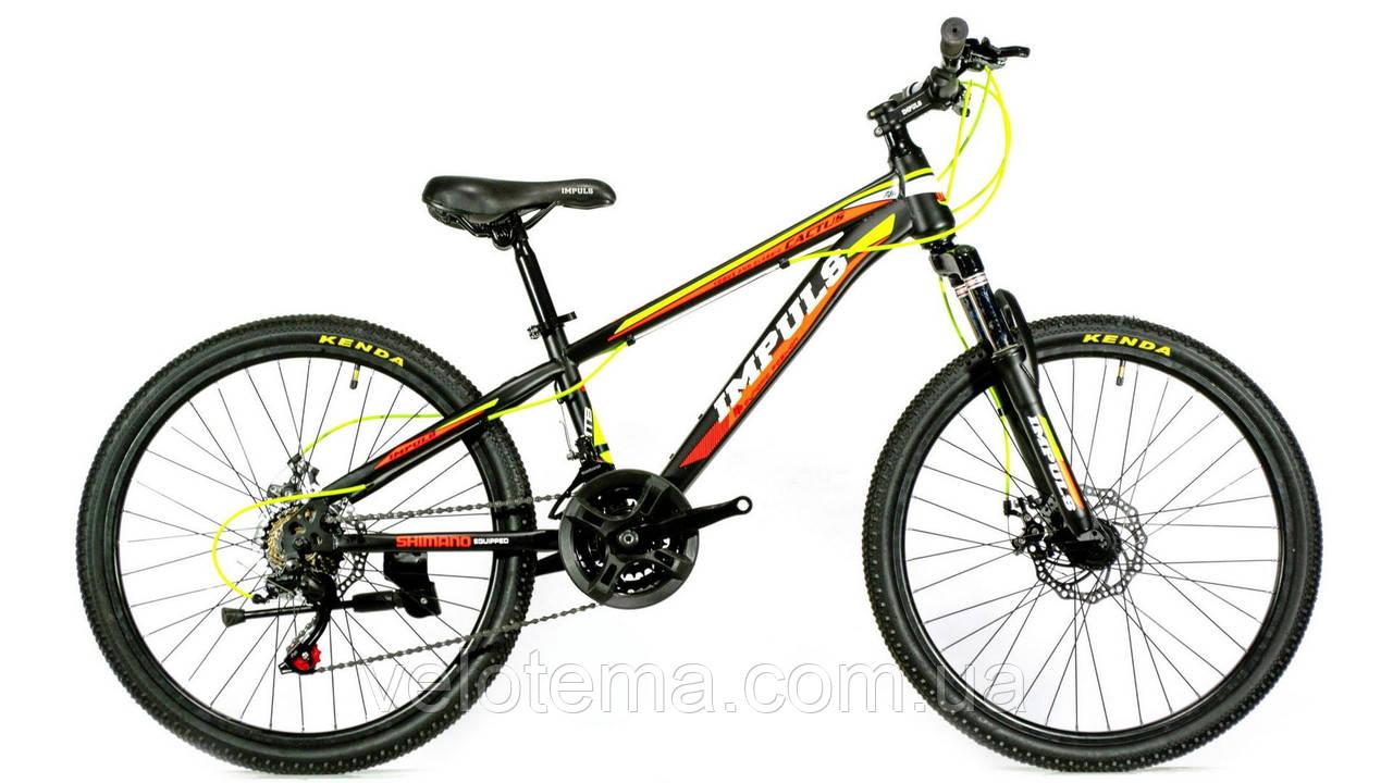 Велосипед спортивный IMPULS 24 CACTUS чёрно оранжевый