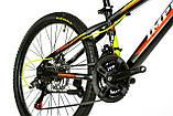Велосипед спортивный IMPULS 24 CACTUS чёрно оранжевый, фото 3