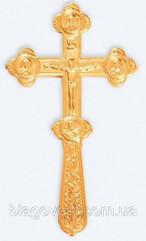 Крест водосвятный 1-1 золоч.