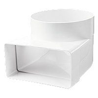 Соединительное колено 90° для плоских 60х120 мм и круглых каналов d100