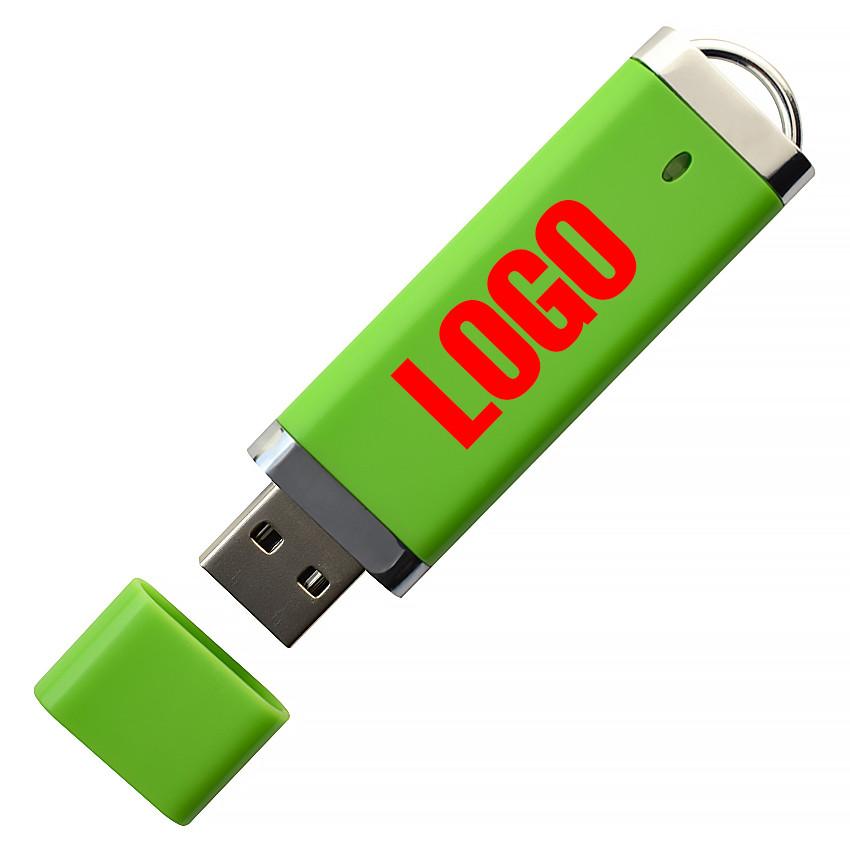 """Флешка """"ТОР"""" зеленая под логотип 16 Гб (0707-5-16-Гб)"""