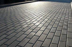 """Тротуарная плитка """"Кирпич"""" 200х100 высота 60 мм серая, фото 2"""