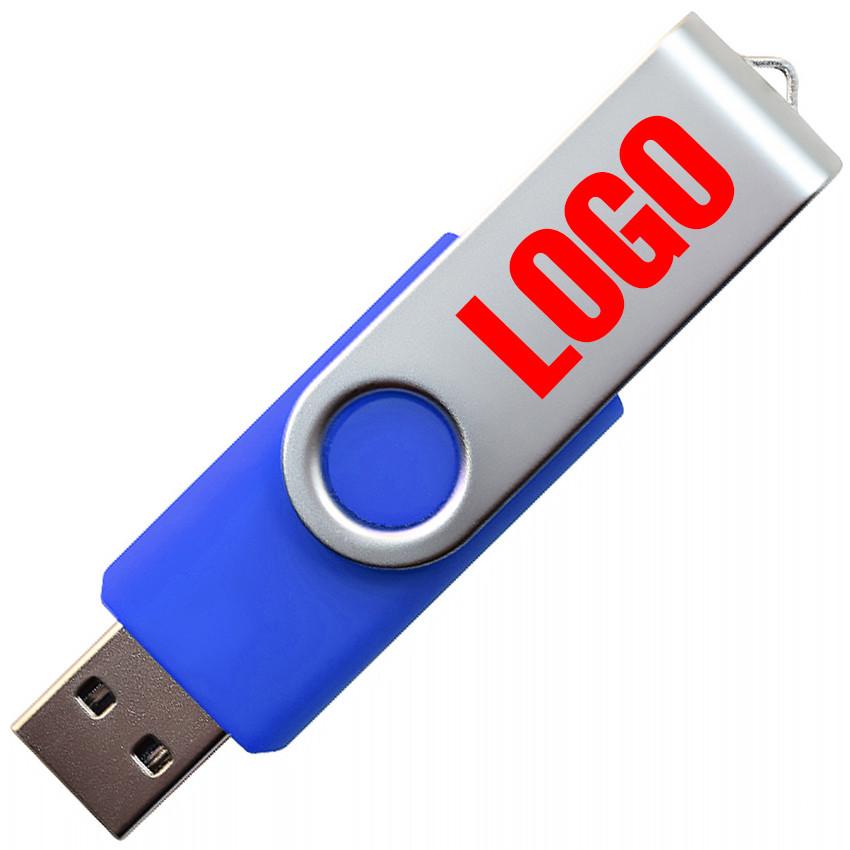 """Флешка """"Твистер"""" синяя под логотип 16 Гб (0801-1-16-Гб)"""