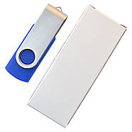 """Флешка """"Твистер"""" синяя с нанесением лого 32 Гб (0801-1-32-Гб), фото 6"""