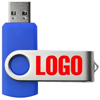 """Флешка 3.0 """"Твистер"""" пластиковая синяя под печать 32 Гб (0801-1-3.0-32-Гб)"""