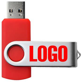"Флешка 3.0 ""Твистер"" пластиковая красная под логотип 64 Гб (0801-2-3.0-64-Гб)"