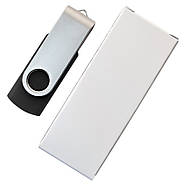 """Флешка 3.0 """"Твистер"""" пластиковая черная под нанесение 16 Гб (0801-3-3.0-16-Гб), фото 5"""