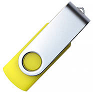 "Флешка ""Твистер"" 64МБ (Мегабайта) желтая под гравировку (0801-5-64-Мб), фото 4"