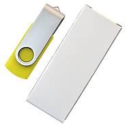 """Флешка """"Твистер"""" желтая 4 Гб под нанесение (0801-5-4-Гб), фото 6"""