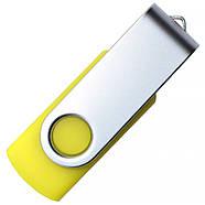 """Флешка """"Твістер"""" жовта 8 Гб для нанесення (0801-5-8-Гб), фото 4"""