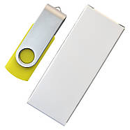"""Флешка 3.0 """"Твистер"""" пластиковая желтая под печать 32 Гб (0801-5-3.0-32-Гб), фото 5"""
