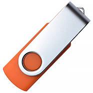 """Флешка """"Твистер"""" оранжевая под логотип 16 Гб (0801-6-16-Гб), фото 4"""