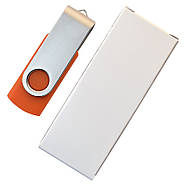 """Флешка """"Твистер"""" оранжевая под логотип 16 Гб (0801-6-16-Гб), фото 6"""