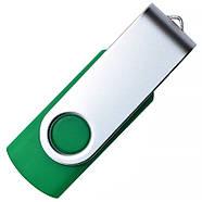 """Флешка """"Твистер"""" зеленая с нанесением лого 32 Гб (0801-7-32-Гб), фото 4"""
