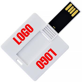 Флешка-карточка квадратная с печатью 256 Мб (1032-265-Мб)