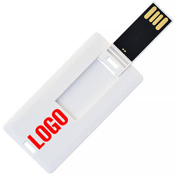 Флешка-карточка мини под логотип 8  Гб (1033-8-Гб)