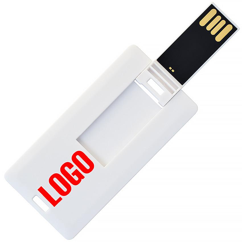 Флешка-карточка мини с логотипом 16 Гб (1033-16-Гб)