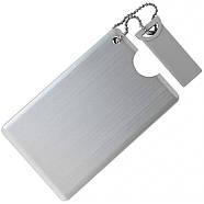 Флешка-карточка металлическая под нанесение 4 Гб (1029-4-Гб), фото 3