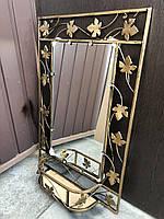Зеркало в кованой раме с полкой малое (85*57*15 см)