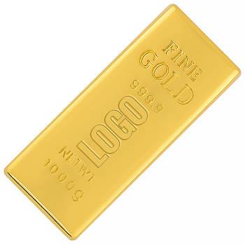 Флешка Золотой слиток Мини с логотипом 16 Гб (0326-16-Гб)