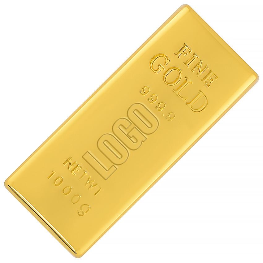 Флешка Золотой слиток Мини с гравировкой 32 Гб (0326-32-Гб)