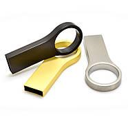Флешка металл матовый серебро под логотип 32 Гб (0495-1-32-Гб), фото 5