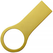 Флешка металл матовый золото с нанесением 8 Гб (0495-3-8-Гб), фото 2