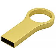 Флешка металл матовый золото под логотип 32 Гб (0495-3-32-Гб), фото 3