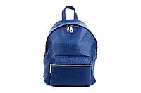 Женский рюкзак из натуральной кожи. Цвет: Синий, фото 1