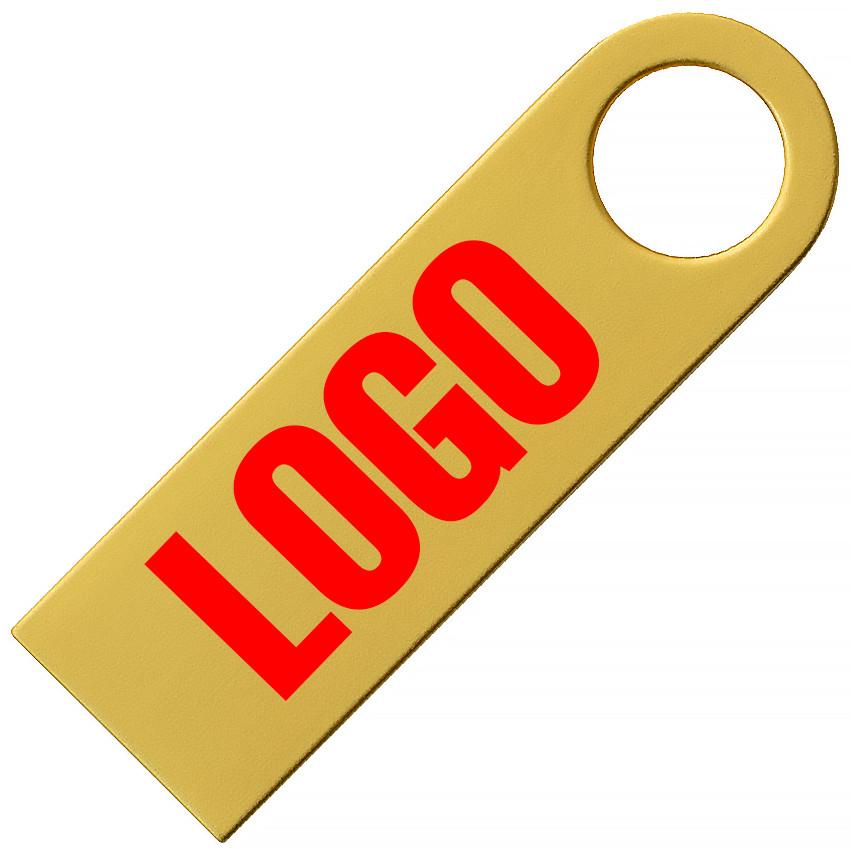 Флешка металлическая золото под нанесение 4 Гб (0497-3-4-Гб)