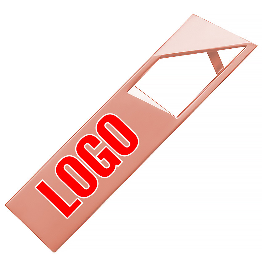 Флешка металлическая медь логотип 32 Гб (0498-4-32-Гб)