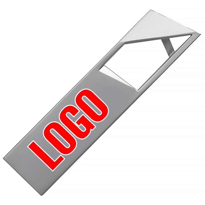 Флешка металл серебро логотип 32 Гб (0498-1-32-Гб)